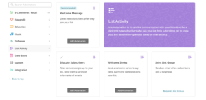 MailChimp Automation List Activity